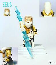Custom Lego Zeus Minifigure God of Sky And Thunder W/ Lightning Greek Mythology