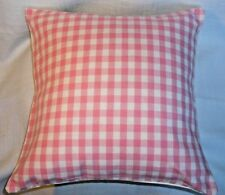Laura Ashley Gingham 'Pink' cotton cushion covers Country style various sizes BN