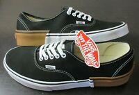 Vans Authentic Mens Gum Block Black White canvas Skate shoes Size 8.5 NWT