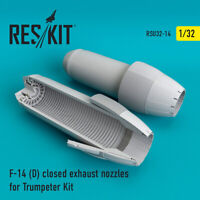 F-14 (D) closed exhaust nozzles for Trumpeter Kit 1/32 ResKit RSU32-0014
