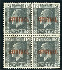 Cook Islands Aitutaki 1917 KGV 1½d slate block very fine used. SG 21. Sc 21.