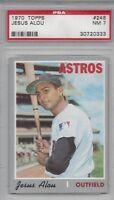 1970 Topps baseball card #248 Jesus Alou, Houston Astros graded PSA 7 NM