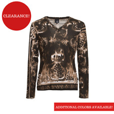 JUST CAVALLI Long Sleeve T-Shirt Made in Italy MSRP $155