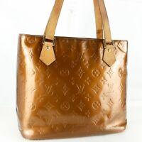 LOUIS VUITTON HOUSTON Shoulder Bag Purse Monogram Vernis M91122 Bronze
