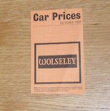 Guía de precios Wolseley Hornet 1967-Mk3 1100 Mk2 18/85 6/110 dieciséis sesenta
