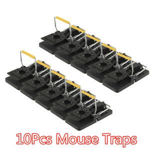 10Pcs Reusable Mouse Traps Professional Rat Trap Snap Trap Rodent Control HOT