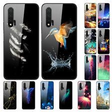 For Huawei nova 6 SE 5Z 5T 5i 5 Pro Painted Tempered Glass Hard Back Case Cover