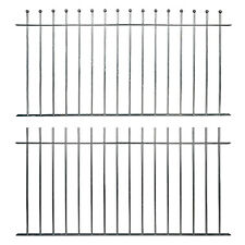 More details for ready made fence panels & posts ball top plain top galvanised metal iron steel