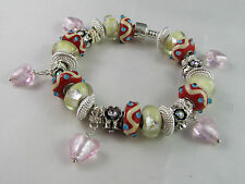 """BEAUTIFUL 925 STAMPED 20cm EUROPEAN STYLE CHARM BRACELET """"SIMPLY IRRESISTIBLE"""""""