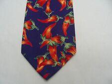 d'em FOU - HOT PEPPERS - VINTAGE - 100% coton cravate