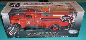 1941 Pumper Firetruck 1/16 Highway 61 GMC Diecast New Never Out Of Box!