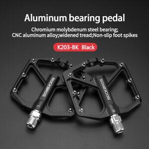 ROCKBROS MTB Bike Pedals 9/16 Lightweight Carbon Fiber Sealed Bearing Flat Pedal