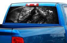 Grim reaper skull color or B/W Rear Window Graphic Decal Sticker Truck SUV