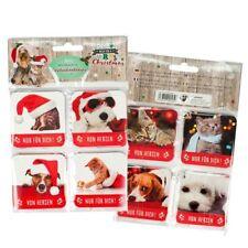 Merry Christmas Etiquetas Para Regalos 8 Set Perro & Gato # Amigos Navidad