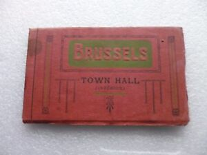 Book of 10 older postcards of Brussels Town Hall interior.