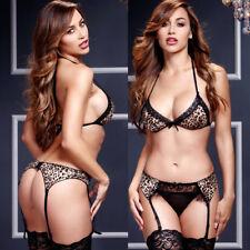 Women Sexy/Sissy Leopard Lingerie Babydoll G-String Thong Underwear Nightwear