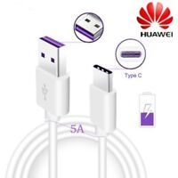 5A For Huawei Mate 9 P9 P10  P20 Plus Pro USB Type C Fast Charger Data Cable