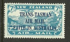 NEW ZEALAND 1934 AIRMAIL TRANS TASMAN 1v MINT NEVER HINGED