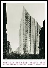 Van der Rohe Berlino Palazzo di Friedrich segmento 1921 POSTER CON CORNICE 100x70cm