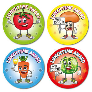 144 Well Done Lunchtime Award Stickers Dinner Time Break Reward kids school