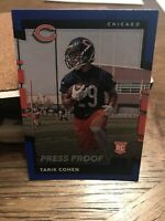 2017 Panini Donruss Tarik Cohen Rookie Blue Press Proof #384 Chicago Bears