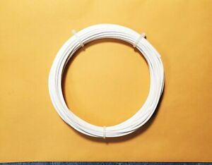 20 AWG Mil-Spec Wire, Teflon (PTFE) Stranded Silver Plated Copper, White, 25 ft