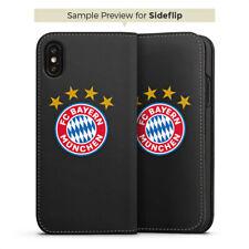 Apple iPhone 5 Tasche Flip Case FC Bayern München Logo mit Sterne transparent