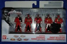 Power Rangers 25th Anniversary Ranger Keys 5-pack - Red Rangers Legendary Pack