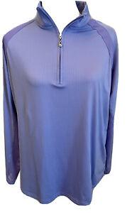San Soleil XL 1/4 Zip Long Sleeve UPF 50 Top Lavender Purple