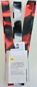 Under Armour Headbands 3 Pack Silicone Non Slip UA Women's One Size Marble Black