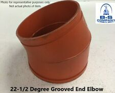"""14""""  22-1/2° Elbow Grooved End IPS Pipe Fitting"""