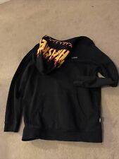 Vans Boys Size Medium Thrasher Magazine Hoodie Hooded Top Black Red Yellow Blue