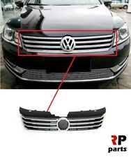 FOR VOLKSWAGEN PASSAT B7 11-14 FRONT BUMPER UPPER CENTER GRILL CHROME BLACK