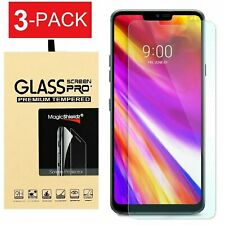 3-Pack Premium Tempered Glass Screen Protector Guard Shield For LG G7 ThinQ