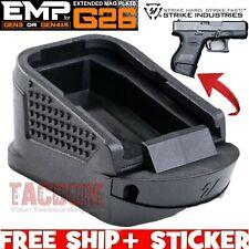 Strike Industries fr Glock 26 27 Extended Grip Plate Magazine Pad Gen 3 4 5 +2RD