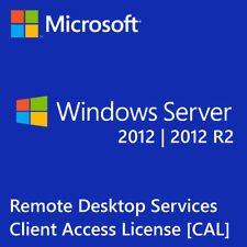 Windows Server 2012 | 2012 R2 Remote Desktop Services RDS 5 USER CAL License