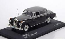 MERCEDES BENZ 300D W189 1957 BLACK LIGHT GREY WHITEBOX WB186 1/43 NOIR GRIS