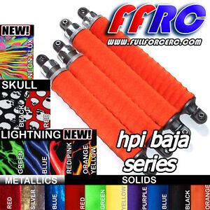 HPI BAJA 5B 5T 5SC & SS  SHOCK BOOTS - COVERS / SOX  BY FULLFORCE RC (4 pcs) NEW