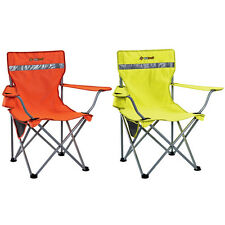 2 x Oztrail Tradie Safety High Visibility Hi Viz Camping Picnic Arm Chair Orange