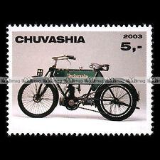 ★ NECKARSULM NSU 3 HP 1906 ★ CHUVASHIA Timbre Poste Moto Motorcycle Stamp #310