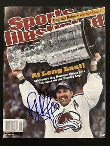 Ray Bourque Signed Sports Illustrated 6/18/01 No Label Hockey Avalanche Auto JSA