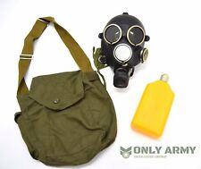 Russian Military GP7 Gas Mask Black Rubber Respirator With Bag GP5 Soviet Army