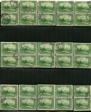 Canada #155 20 pairs of used copies of Mount Hurd total 40 stamps, see scans