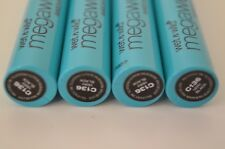 (4) Wet N Wild MegaWear Enhance & Define Mascara VERY BLACK Condition Eye Lashes
