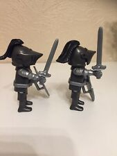 Playmobil Full Armored Black Knights Soldier Castle Medieval Crusader