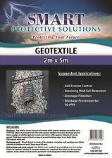 Geotextile Fabric Non Woven 2m x 5m Black 140gsm Landscape Drainage Filtration