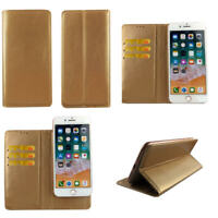 Premium Leather Mobile Phone Gold Wallet Flip Case For BLU Tank Xtreme-L