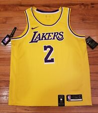 Nike NBA Los Angeles Lakers Lonzo Ball Gold Swingman Jersey Mens 52 XL MSRP $110