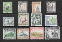 1959 Queen Elizabeth II SG18 to SG31 set of 12 stamps Used RHODESIA & NYASALAND