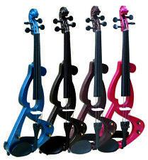 E-Geige/E-Violine 4/4, mit Zubehör - im Set, Tolle Farben-Top Angebot! blau